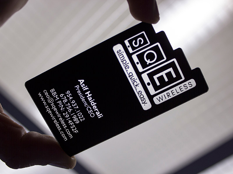 Sqe business cards pure black inc laser and cnc fabrication buscard sqe colourmoves Choice Image
