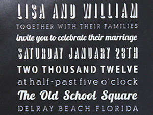 Lisa and Will – Wedding Invitations