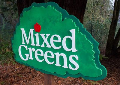 Mixed Greens Sign