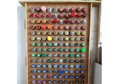 Spray Paint Rack