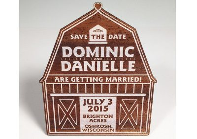 Dominic and Danielle Wedding Invitations