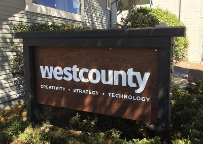 West County Sign